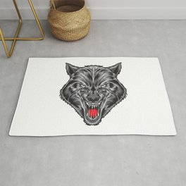 Ruthless Wolf Vector Rug