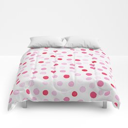 New confetti dots in red Comforters
