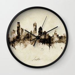 Austin Texas Skyline Wall Clock