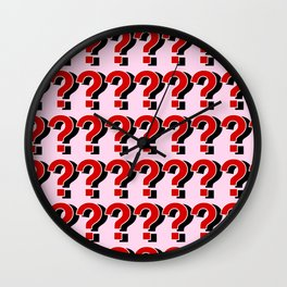 Questions Marks??? Wall Clock