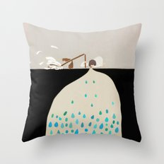 words of silence Throw Pillow