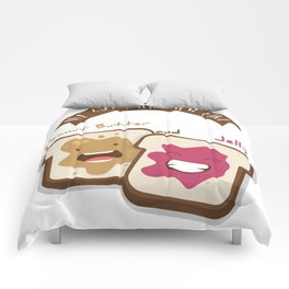 Peanut butter and jelly T-shirt, Cute unusual National Best Friends Day gift Comforters