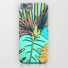 Tropical leaves blue iPhone 6s Slim Case