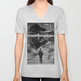 Black & White Collection -- Wandering Unisex V-Neck