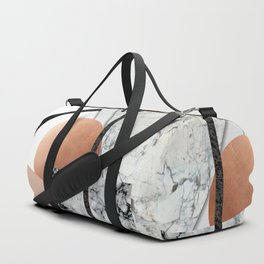 Collage II ( marble, copper, volcanic rock) Duffle Bag