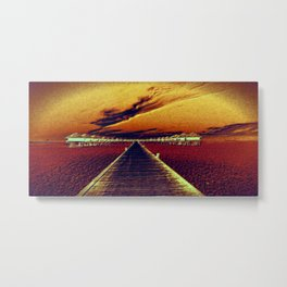 Fierce Sunset Metal Print