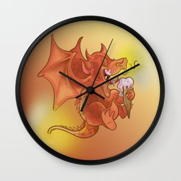 Dragon Cooling Down Wall Clock