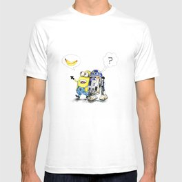 R2D2 vs Minion T-shirt