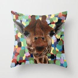 Giraffes Just Wanna Have Fun Throw Pillow