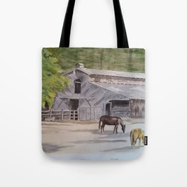 Old Horse Barn Tote Bag