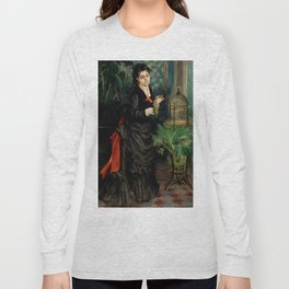 """Auguste Renoir """"Woman with Parrot"""" Long Sleeve T-shirt"""