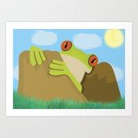 frog Art Prints featuring Frog by Nir P