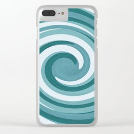 Twirling Clear iPhone Case
