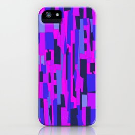 Icy Blue and Purple Crackle Glass Pattern iPhone Case