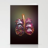 lungs Stationery Cards featuring Lungs by Victoria Cartwright