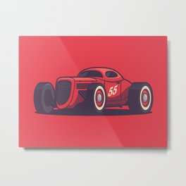 GAZ GL1 Custom Vintage Hot Rod Classic Street Racer Car - Red Metal Print