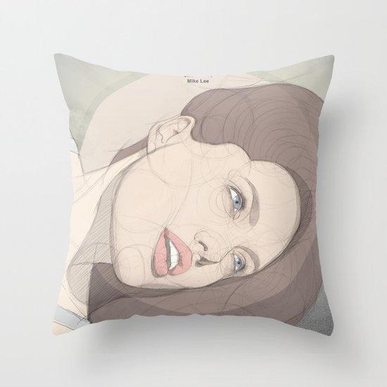circlefaces Throw Pillow