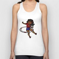 rockabilly Tank Tops featuring Rockabilly Hula Hoop Girl by roryseviltwin