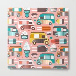 Ice Cream Man - Pink Multi Metal Print