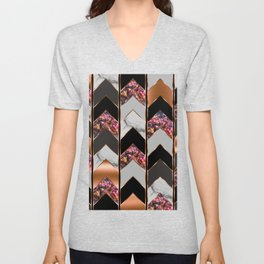 Chevron Peacock Unisex V-Neck