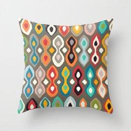 brocade bronze Throw Pillow