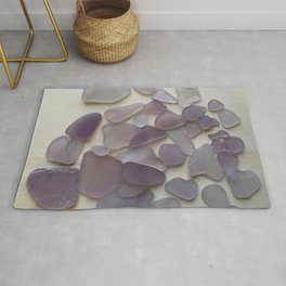 Genuine Purple Sea Glass Collection Rug