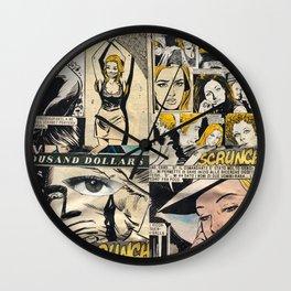 Italian Comics Vintage Pop art Collage Wall Clock