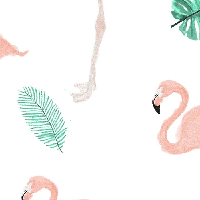 Hand painted pastel  pink flamingo tropical leaf watercolor pattern Leggings