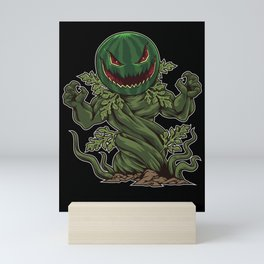 Halloween Watermelon comes from the ground Mini Art Print