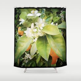 Orange Blossom Shower Curtain