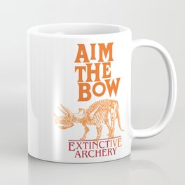 "AIM THE BOW - EXTINCT""IVE"" ARCHERY / 70s RETRO Coffee Mug"