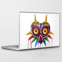 majoras mask Laptop & iPad Skins featuring majoras mask by Haily Melendez