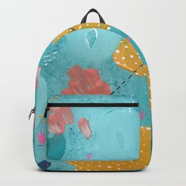 Aqua Abstract Coral Reef Ocean Landscape Backpack