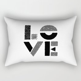LOVE black-white contemporary minimalist vintage typography poster design home wall decor bedroom Rectangular Pillow