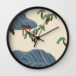 Kamisaka Sekka - Ocean waves from Momoyogusa Wall Clock