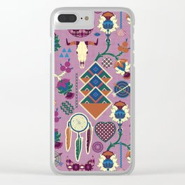 Bohemian&Tribal Clear iPhone Case