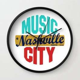 Nashville Vintage Wall Clock