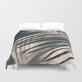 Gray Palm #2 Duvet Cover