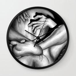 Passionate Love b&w Wall Clock