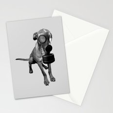 gas mask dog Stationery Cards