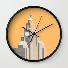 Liverpool Liver Building Print Wall Clock