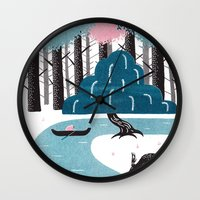 river Wall Clocks featuring River by James White