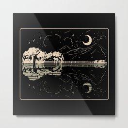 Guitar Lake Shadow Metal Print