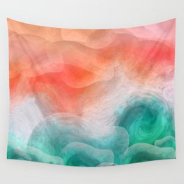 """""""Coral sand beach and tropical turquoise sea"""" Wall Tapestry"""