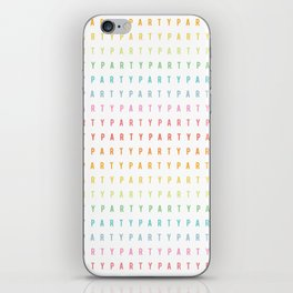 Party Pattern iPhone Skin