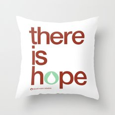 there is hope - blood:water mission  Throw Pillow