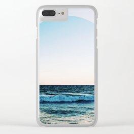 Vibrant Sea Horizon Clear iPhone Case