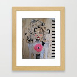 The world is playing with me Framed Art Print