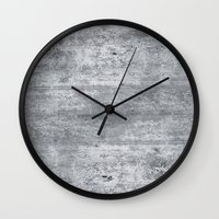 concrete Wall Clocks featuring Concrete by Grace