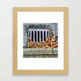 In the gutter Framed Art Print